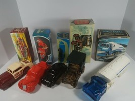 Avon Car Collector Bottle Lot Of 5 With Original Box Big Rig Ford Chrysler - $44.54