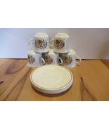 Set of 5 Indian Summer Coffee Cups and Saucers Corelle by Corning Mugs F... - $25.00