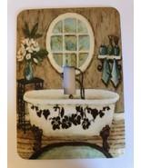 Bath Room metal light switch cover  - $9.50