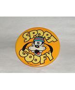"Walt Disney Productions 3"" Round Sport Goofy Pin Back Button - $8.63"