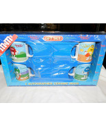 M Ms Mugs Red Blue Green Yellow Sports Galerie in Box 2002 - $29.99