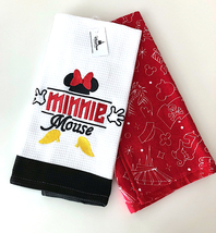 Disney Parks Minnie Mouse Body Parts Kitchen Dish Towel Set of 2 NEW - $29.90