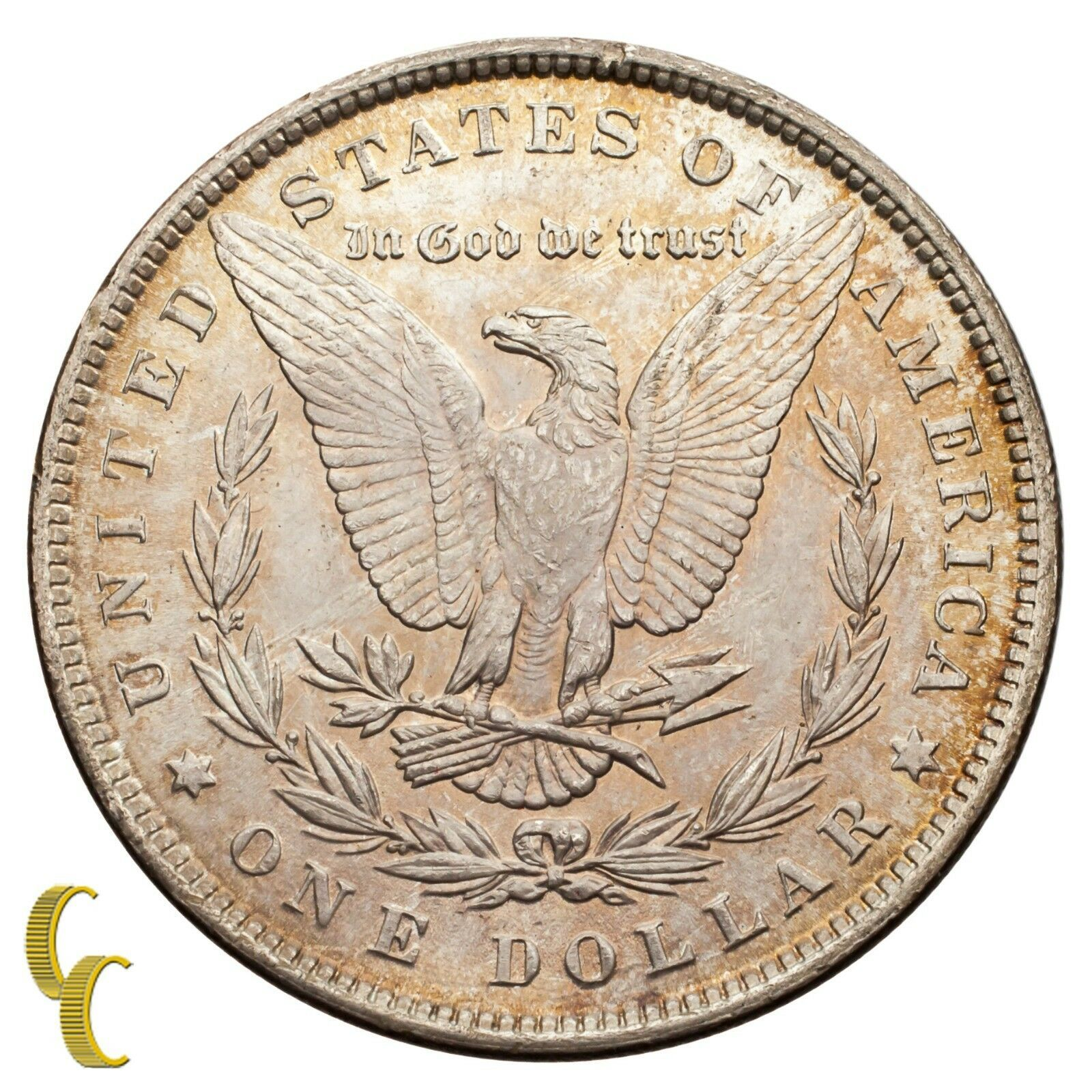 1884 Silver Morgan Dollar (Choice BU Condition) Full Mint Luster image 4