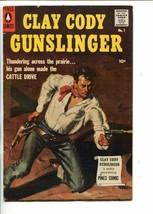 CLAY CODY GUNSLINGER #1-1957-LESLIE ROSS-BON JENNY-SOUTHERN STATES-vf+ - $81.97