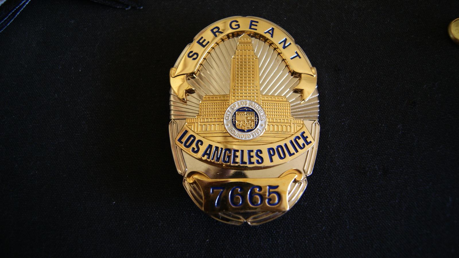 Los Angeles Police Badge,Sergeant Presentation Badge,Hmk Bellingham & Carrington