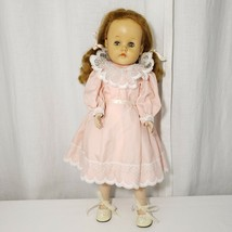 "20"" Vintage Hard Plastic Walker Uneeda Doll Red Hair Vinyl Face 210 Body  - $69.25"