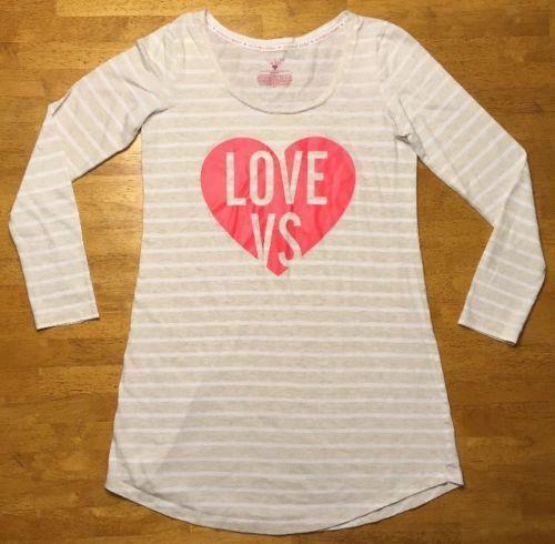 Victoria/'s Secret Navy Logo XS Terry Off The Shoulder Sweatshirt Lounge Sleep