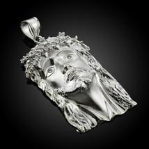 Sterling Silver Jesus Face CZ Pendant - $59.99