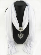 Charms Scarf jellery pendant Scarf Scarves lace Scarf image 3