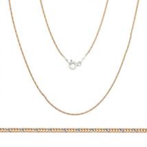 Women's Unique 1mm 925 Silver 14k Rose Gold Snake Link Italian Chain Nec... - $20.24+