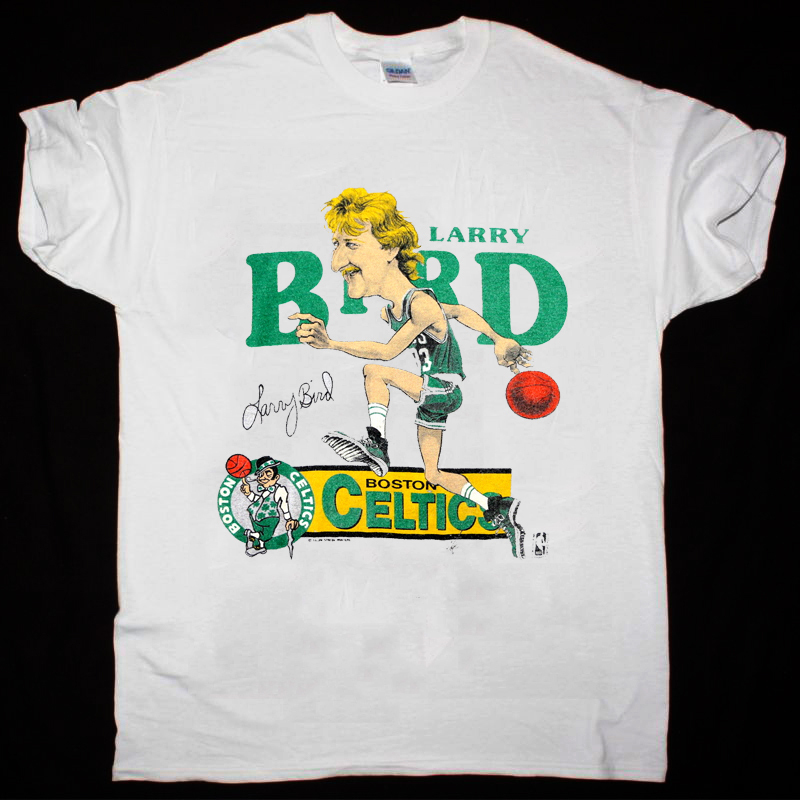 Larry Bird Shirt Vintage tshirt 1980s Boston Celtics  t-shirt gildan reprint