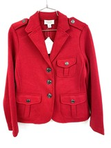 NWT Talbots SP Knit Cardigan Jacket 3 Button Blazer Coat Cranberry Red N... - $34.70