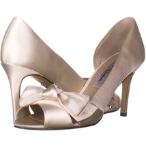 Nina Forbes2 Peep-Toe D'Orsay Dress Pumps 445, Ivory, 6 US - $25.91