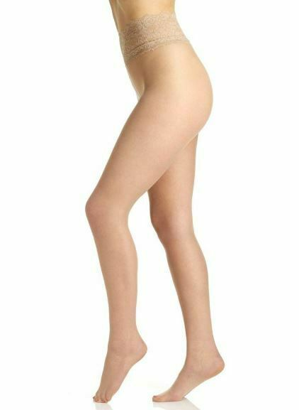 Berkshire NUDE Lace Waist Ultra Sheer Tights, 2 Pack, Size 1X-2X