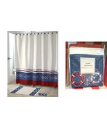 Avanti Life Preservers Nautical  Fabric Shower Curtain Navy White Red An... - $29.67