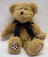 """Boyds TAN TEDDY BEAR W/ BLACK BOW & SOCCER BALL PATCH 8"""" Plush STUFFED A... - $17.82"""