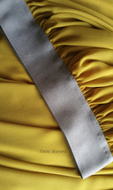 Yellow Rust Maxi Chiffon Skirt Outfit Floor Length Bridesmaid Chiffon Skirt image 8