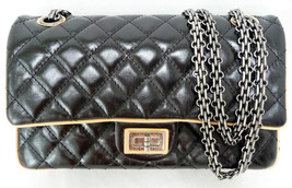 Chanel Reissue Medium Classic Double Flap Bag Black Limited Edition New - $4,789.00