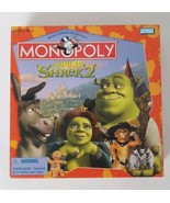 Shrek 2 Monopoly JR Board Game Parker Brothers 2004 - $14.01