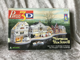 Puzz 3D Norman Rockwell Main Street at Christmas 174-Piece Puzzle Complete w/Box - $15.69