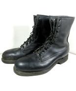 Vintage 80s Carolina Shoe Co Black Combat Police Boots Steel Toe Lace Si... - $247.45