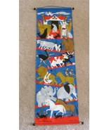 Vintage Noah's Ark Animals Linen Wall Hanging Banner World Wildlife Fund... - $29.69