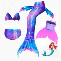 Mermaid Tails for Swimming with Monofin Children Bikini Costume Cosplay - $32.99