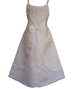 Satin Flower Girl Party Bridesmaid Dress Lilac Ivory Pink 4 5 6 7 8 9 10... - $21.22