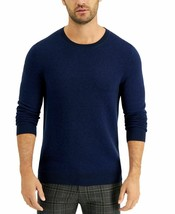 Tasso Elba Mens Crewneck Sweater Navy Blue Size XXL NWT - $31.67