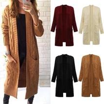 Ladies Long Sleeve Loose Knitwear Sweater Jumper Pullover Cardigan Outwe... - $44.88