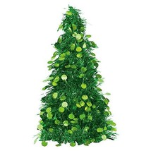 "Amscan Christmas Centerpiece Large Tree, 18"", Tinsel, Green - $9.85"
