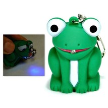 LED FROG KEYCHAIN with Light and Sound Cute Croaking Noise Toy Key Ring ... - $6.95