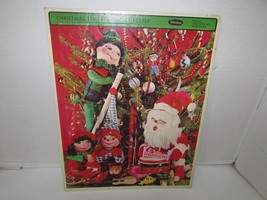 Vintage Puzzle In Tray Christmas Time #4424 Whitman 11 X 14 1967 L183 - $6.85
