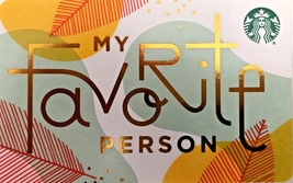 Starbucks 2018 My Favorite Person Collectible Recyclable Gift Card New N... - $2.99