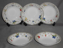 Set (5) Greenwich Polo Club FRUIT MOTIF PORCELAIN BOWLS Greenwich Connec... - $39.59