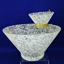 Chip Dip Set Mid Century Modern Spatter Design West Virginia Glass Vtg 1... - $75.24