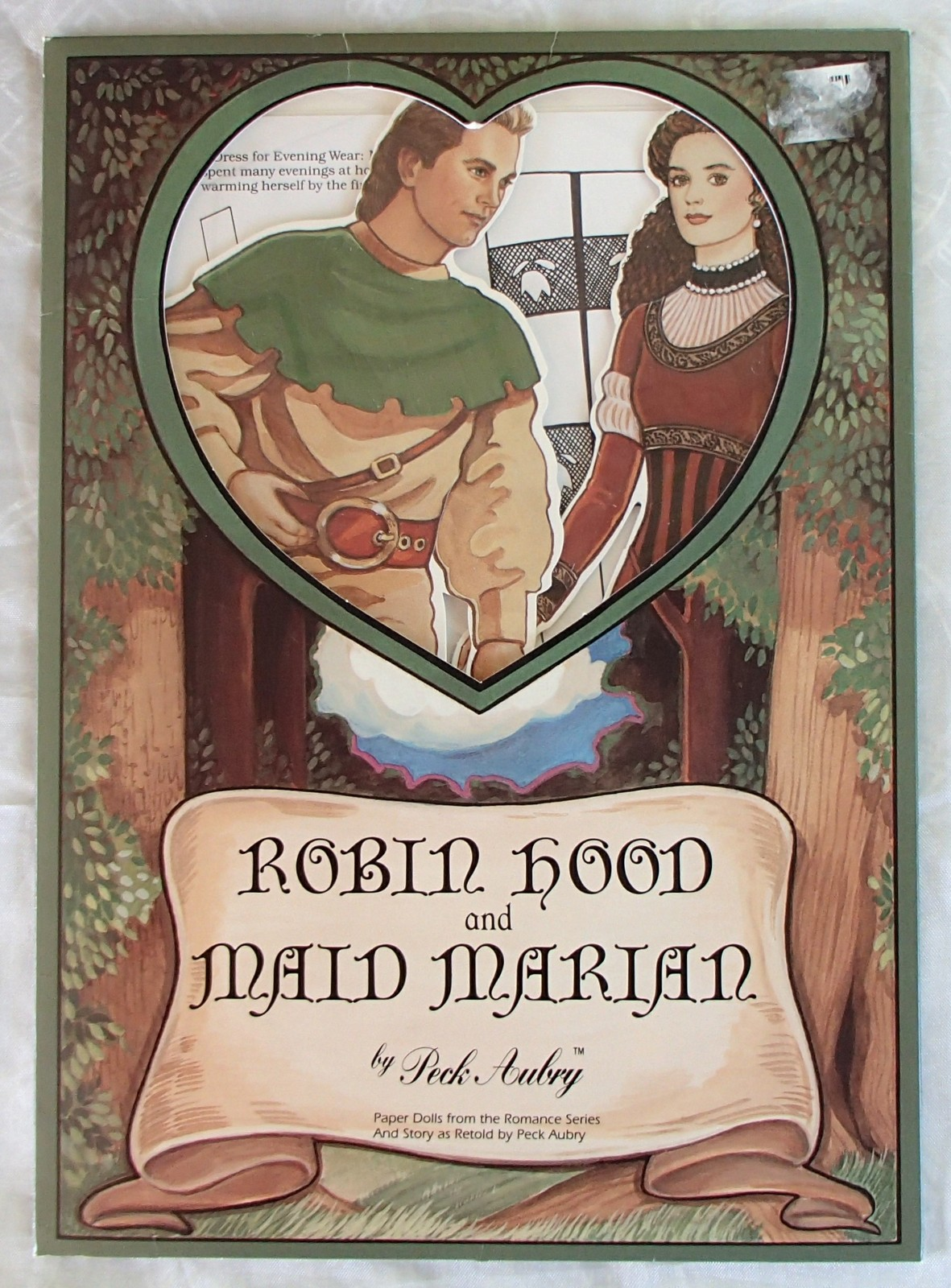 Primary image for Robin Hood Maid Marian Vintage Rare Paper Doll Book Peck Aubry 1994 USA Like New
