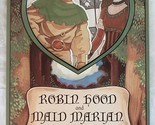 Robin Hood Maid Marian Vintage Rare Paper Doll Book Peck Aubry 1994 USA Like New