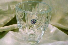 "St. George Crystal Christmas Holly Vase 4 5/8"" - $6.92"