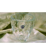 "St. George Crystal Christmas Holly Vase 4 5/8"" - $6.29"