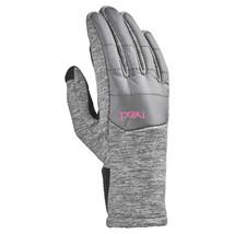 HEAD Jr Junior Girls Lt Gray Pink Hybrid Sensatec Touchscreen Winter Gloves NWT image 2