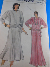 VOGUE 9147 PULLOVER TOP, Long or mid flared SKIRT PATTERN 14 16 18 UNCUT... - $9.00
