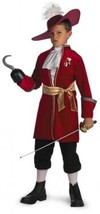 Disguise Disney Captain Hook Classic Child Costume - Red - £25.01 GBP