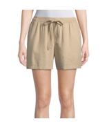 St. John's Bay Pull-On Shorts New Size L New Biscotti - $14.99