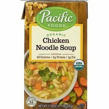 Pacific Foods Organic Chicken Noodle Soup 17 oz ( Pack of 6 ) - $44.54