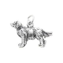 STERLING SILVER THREE DIMENSIONAL GOLDEN RETRIEVER DOG CHARM PENDANT - $17.27