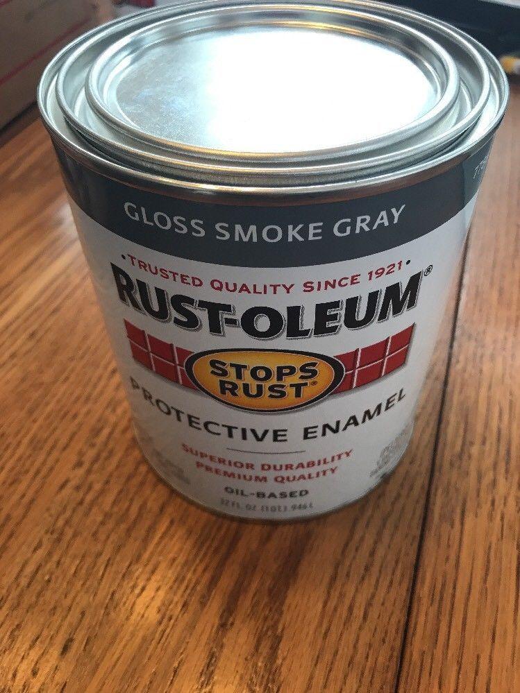 Rust-Oleum Protective Enamels Gloss Smoke Gray Oil- Based Ships N 24h - $31.66