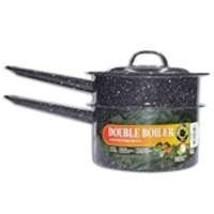 Columbian Home Granite Ware Covered Double Boiler 1-1/2 Qt. Ceramic On S... - $30.69