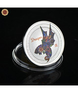 WR Year of the Dragon China Lunar Zodiac Colored Silver Coin Token Birth... - $4.39