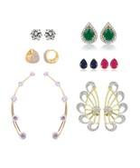 Efulgenz Pack of Cubic Zirconia Cubic Zirconia Stone Earrings for women - $34.00